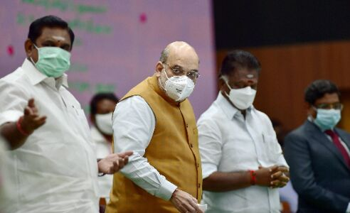 Amit Shah springs a surprise, walks on Chennai road to greet supporters