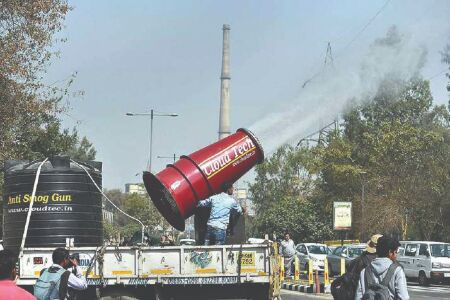 Over 70L litres water sprinkled at 13 pollution hotspots in 36 days