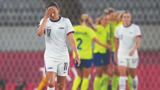 Sweden stun US 3-0 in womens football at Olympics