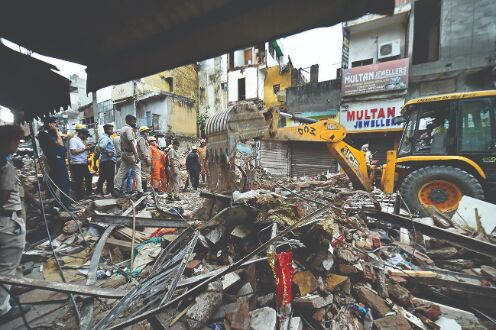 Illegal construction in shop led to collapse, owner held: Police